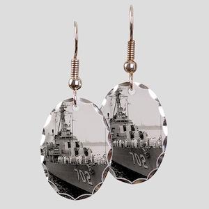 hank framed panel print Earring Oval Charm