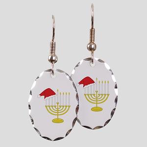 Hanukkah And Christmas Earring