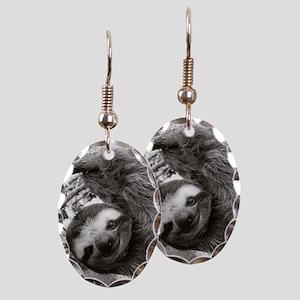 frame print Earring Oval Charm