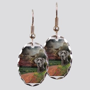 """Why God Made Dogs"" Great Dane Earring Oval Charm"