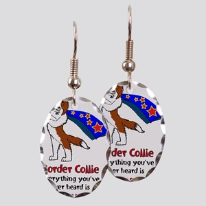Super Border Collie - everyth Earring Oval Charm