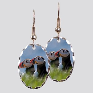 Puffin Pair 7.355x9.45 Earring Oval Charm