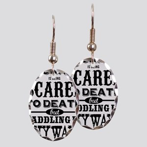 Courage is being scared to deat Earring Oval Charm