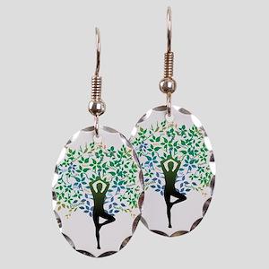 TREE POSE YOGA Earring Oval Charm