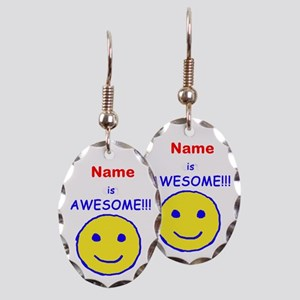 I am Awesome (personalized) Earring Oval Charm