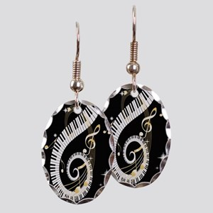designer Musical notes Earring Oval Charm