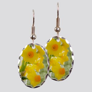 A Sprig of Yellow and Orange Jo Earring Oval Charm