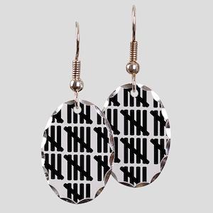 line_fifty Earring Oval Charm