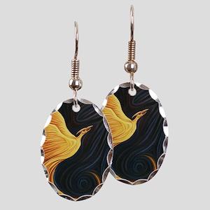 Phoenix Rising Earring Oval Charm