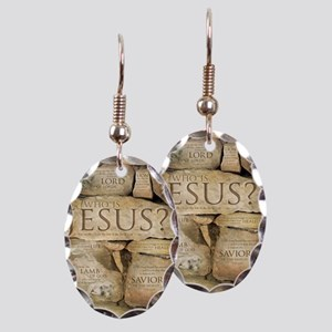 Names of Jesus Christ Earring Oval Charm