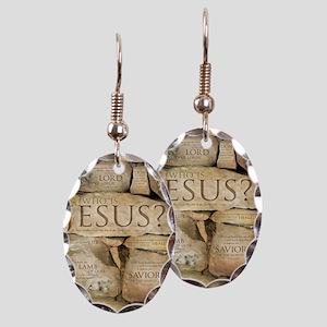 Names of Jesus Christ Earring Oval Charm