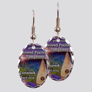 4th Annual Bowed Psaltery Symph Earring Oval Charm