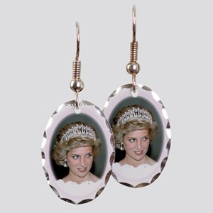 HRH Princess Diana Remembrance Earring Oval Charm