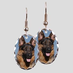 German Shepherd Dog 9Y554D-150 Earring Oval Charm