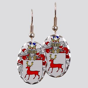 McCarthy Family Crest Earring Oval Charm