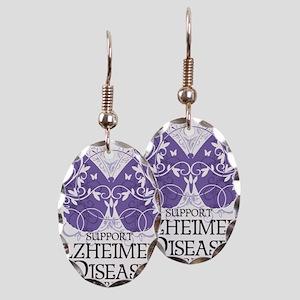 Alzheimers-Butterfly Earring Oval Charm