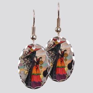 Witch Way Halloween Witch Art Earring