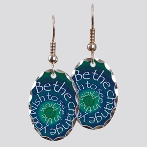 Be The Change Earring Oval Charm