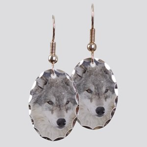 ms  Wolf Earring Oval Charm