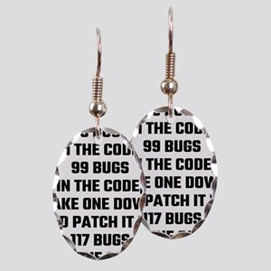 99 Bugs In The Code Earring Oval Charm