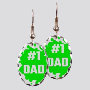 Number One Dad Earring Oval Charm