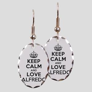 Keep Calm and Love ALFREDO Earring Oval Charm