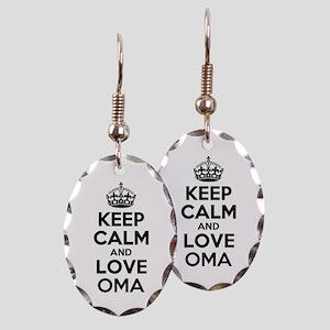 Keep Calm and Love OMA Earring Oval Charm