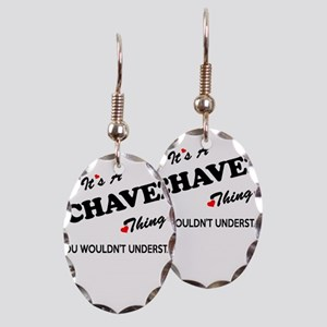 CHAVEZ thing, you wouldn't unde Earring Oval Charm