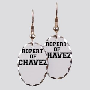 Property of CHAVEZ Earring Oval Charm