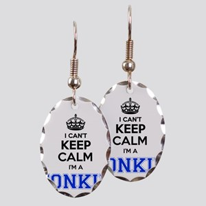 I can't keep calm Im TONKIN Earring Oval Charm