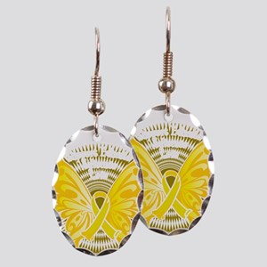 Suicide-Prevention-Butterfly-3- Earring Oval Charm