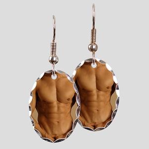 Nude man Earring Oval Charm