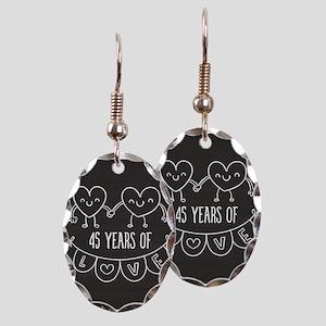 45th Anniversary Gift Chalkboar Earring Oval Charm