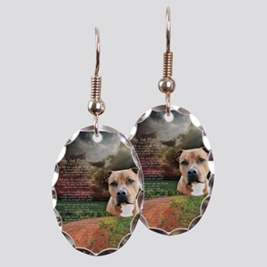 """Why God Made Dogs"" AmStaff Earring Oval Charm"