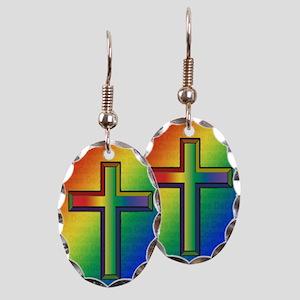 De Colores Cross Earring Oval Charm