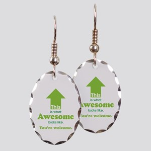 Awesome_lime Earring Oval Charm