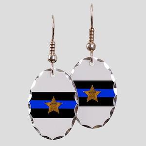 Sheriff Thin Blue Line Earring
