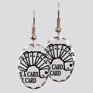 Pick A Card Earring Oval Charm