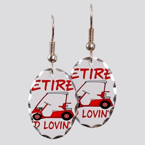 Retired And Lovin' It Earring Oval Charm