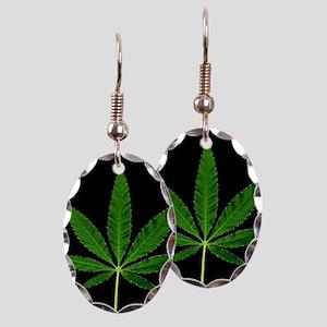 Black Marijuana Plant Earring