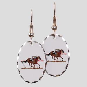 Jockey on Racehorse Earring