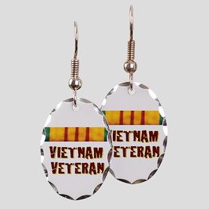 VIETNAM VET Earring Oval Charm