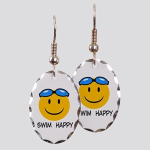 swimming Earring Oval Charm