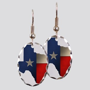 State of Texas1 Earring Oval Charm