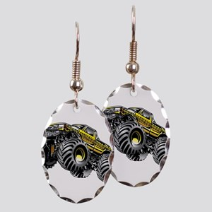 Monter Taxi Truck Earring Oval Charm