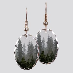 Misty pines Earring Oval Charm