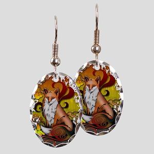 Outdoor Fox Earring Oval Charm