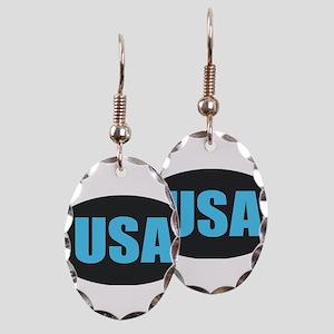 USA Earring Oval Charm