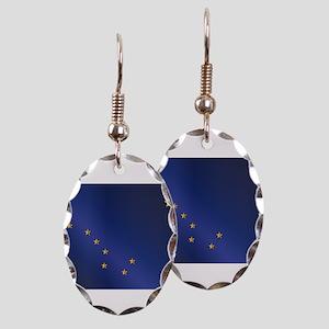 Flag of Alaska Gloss Earring Oval Charm