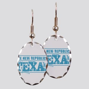 Texas - New Republic Earring Oval Charm